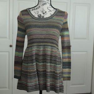 Moth Peplum Striped Sweater
